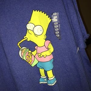 f2bd8b0b9 NWT Simpson's BaRT cartoon shirt XXL men's